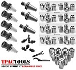 HAAS MAZAK CAT40 5PC ER32 3PC ER16 COLLET CHUCK AND 29PC COLLETS PACKAGE NEW