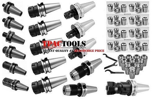 BT40 TOOLING PACKAGE ER32 ER16 COLLET SET END MILL HOLDER DRILL CHUCK NEW FACE MILL NEW